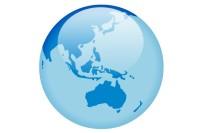 australia nz globe